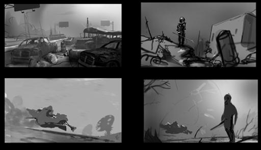 Kenny Callicut concept art thumbnails