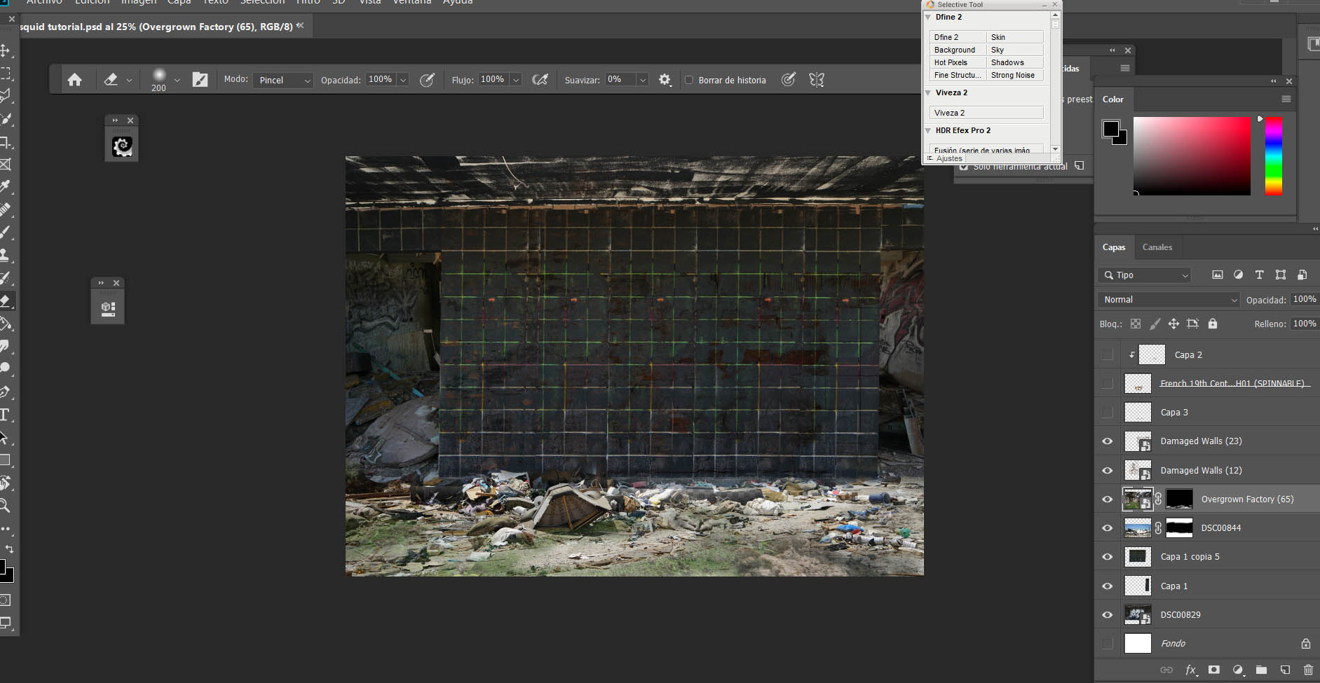 Step 5: Texture background and environment