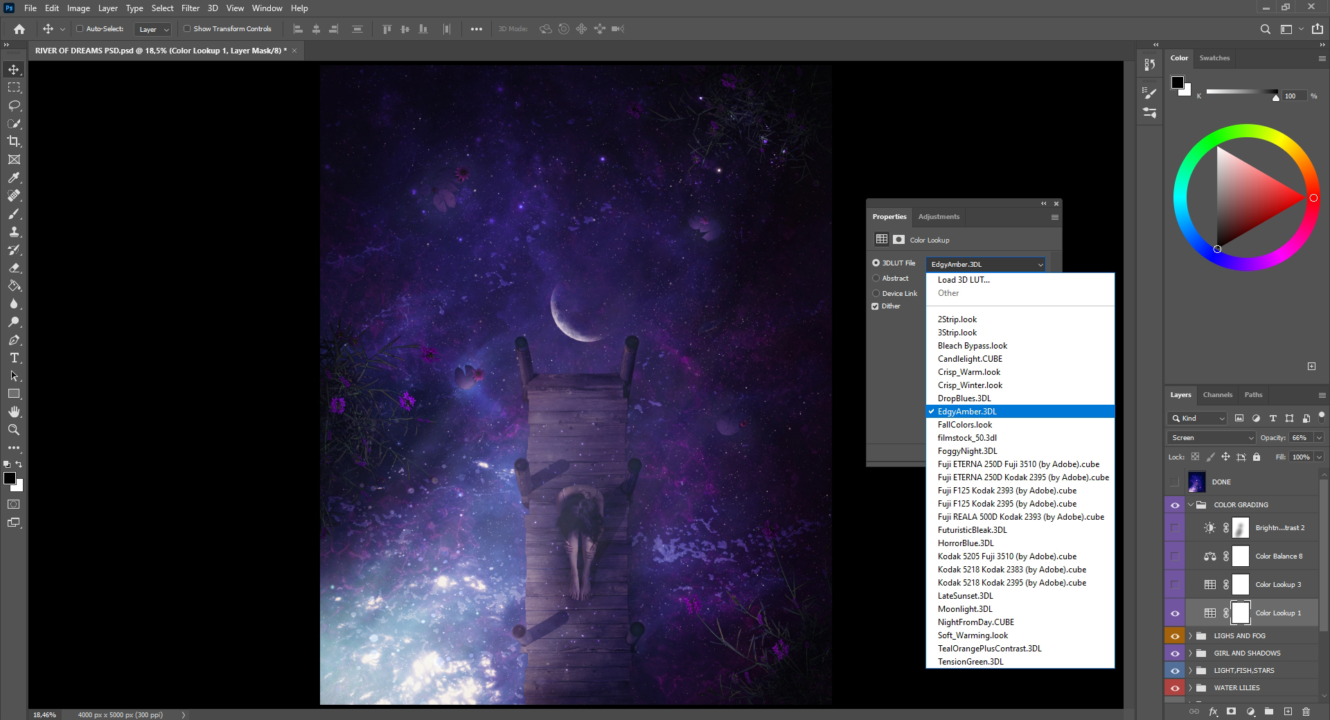 Using LUTs in step 21
