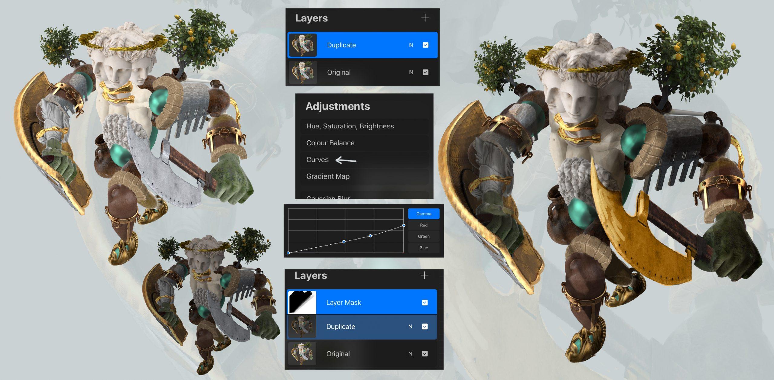 Step four of PixelSquid Creature Design